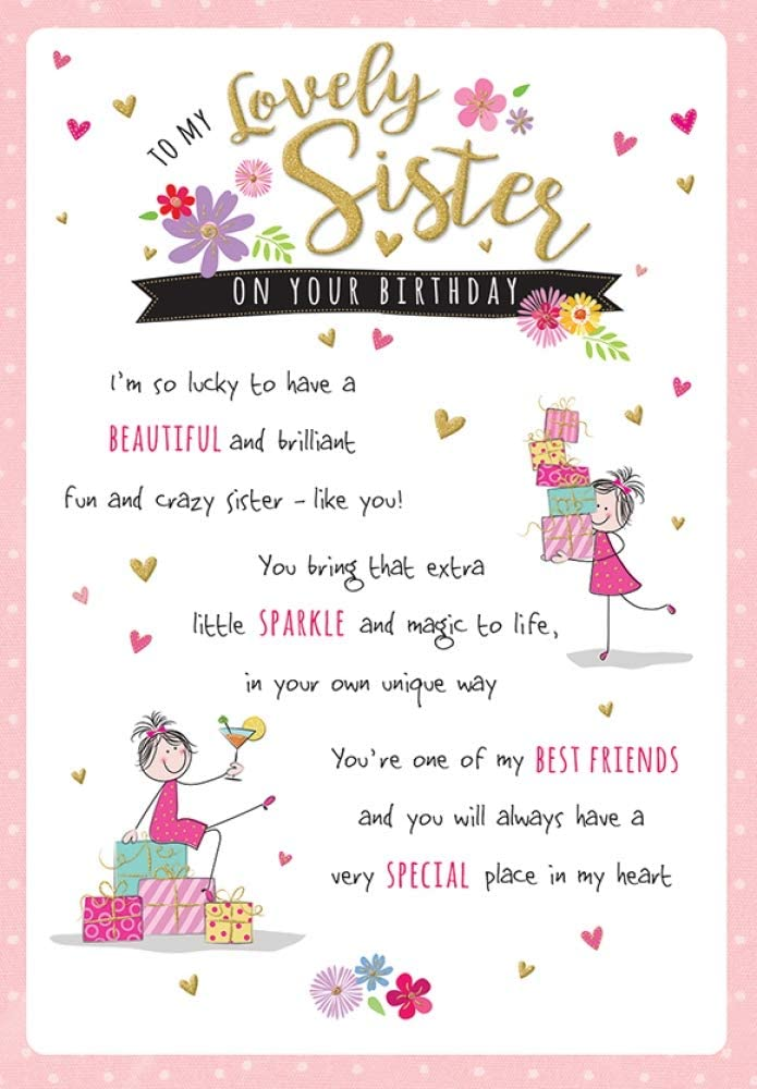 Sister Birthday Card - Fun