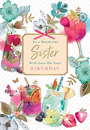 Wonderful Sister Birthday Card