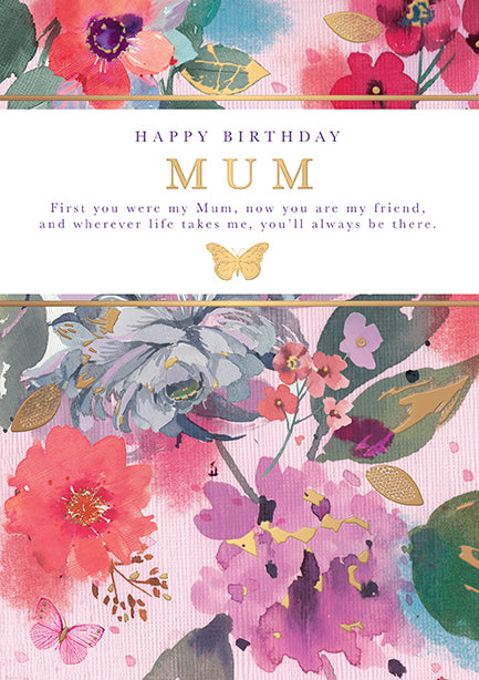 Mum Birthday Card - Words and Wishes