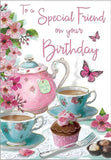 Special Friend Birthday Card - Teapot
