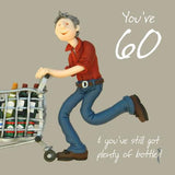 60th Birthday Card Man - Holy Mackerel