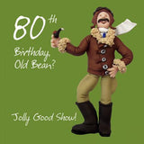 80th Birthday Card Man