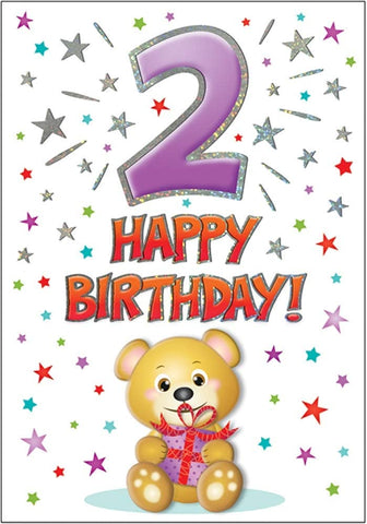 2nd Birthday Card - HerbysGifts.com