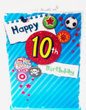 Happy 10th Birthday Card for A Boy