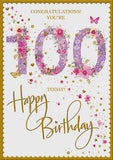 100th Birthday Card Woman