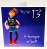 13th Birthday Card for a Girl - HerbysGifts.com