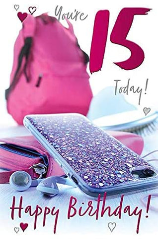 15th Birthday Card Girl - HerbysGifts.com