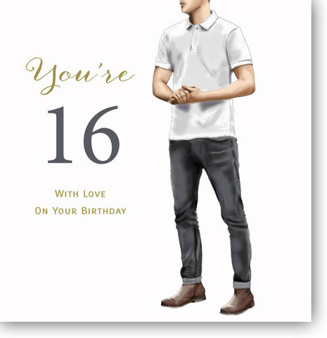 Happy 16th Birthday Card For Young Man - HerbysGifts.com