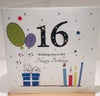 Happy 16th Birthday Card - 9 x 6 inches approx - HerbysGifts.com