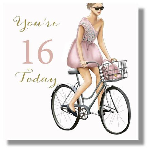 Happy 16th Birthday Card Female - HerbysGifts.com