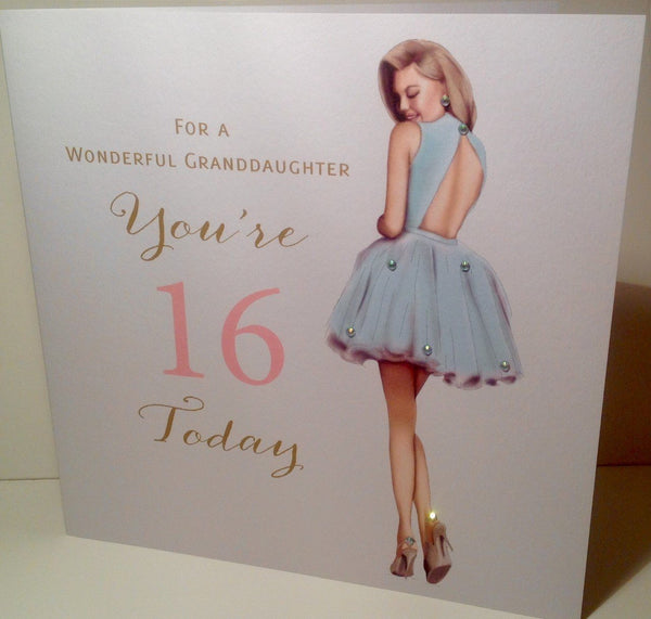 Large Happy 16th Birthday Card Granddaughter