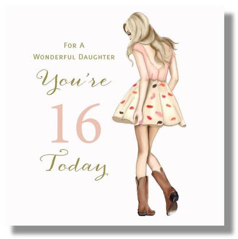 Happy 16th Birthday Card Daughter - HerbysGifts.com