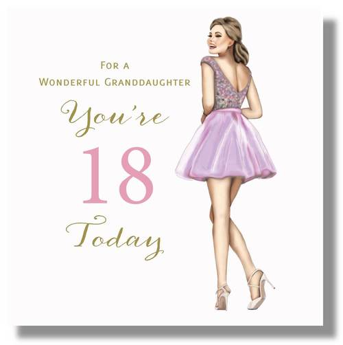 Happy 18th Birthday Card Granddaughter