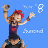 18th birthday card for a girl - 6 x 6 Inches - HerbysGifts.com