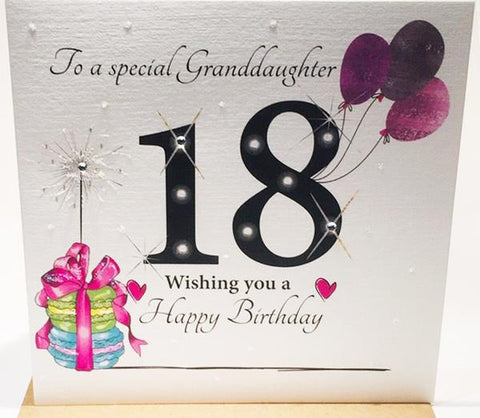 Big 18th Birthday Card Granddaughter - HerbysGifts.com