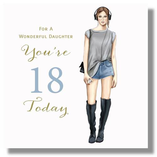 Happy 18th Birthday Card Daughter 18th Birthday Card 18th Birthday