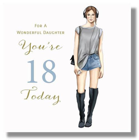 Happy 18th Birthday Card Daughter - HerbysGifts.com