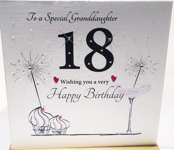 18th Birthday Card Special Granddaughter