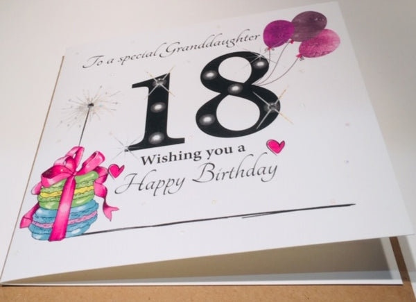 18th Birthday Card Granddaughter
