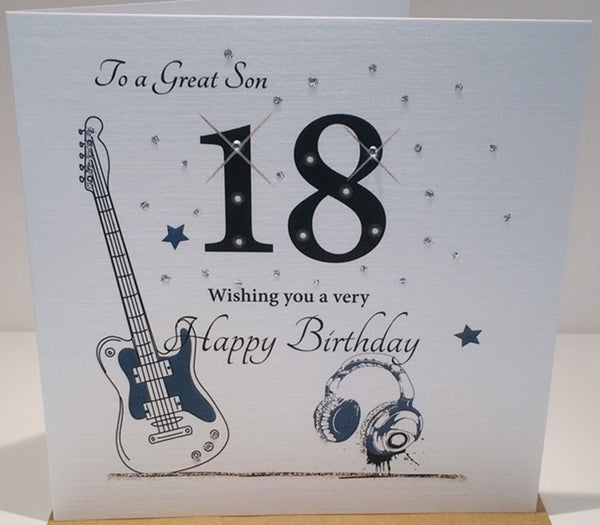 Pleasing 18Th Birthday Card To A Great Son 18Th Birthday Card Son Happy Personalised Birthday Cards Cominlily Jamesorg