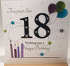 18th Birthday Card Son - 6 x 6 Inches - HerbysGifts.com