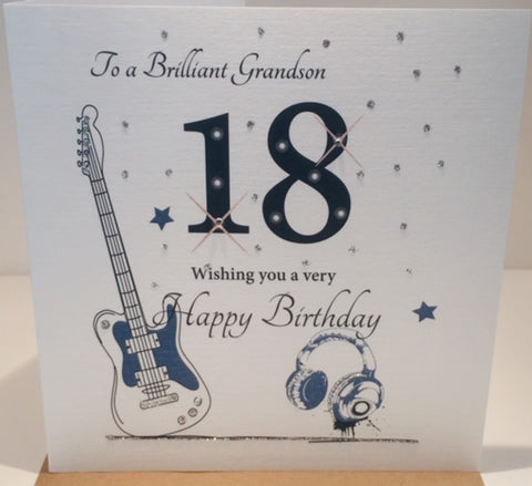18th Birthday Card Brilliant Grandson