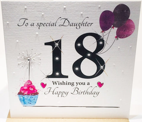 LARGE 18th Birthday Card Daughter - HerbysGifts.com