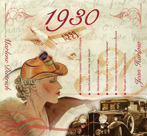 1930 Birthday Card - HerbysGifts.com