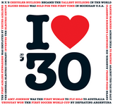 I Love 1930 Birthday CD Gift and Greeting Card