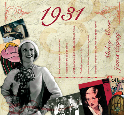 1931 Classic Years CD Gift & Year Birthday Card - HerbysGifts.com