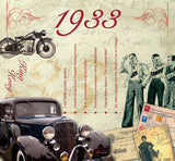 1933 Classic Years CD Greeting Card - The cd has 20 original songs from the 1933 hit parade