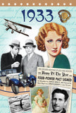 1933 Birthday News Documentary DVD Gift and Card in One
