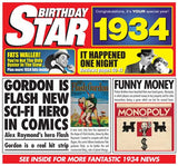 1934 Birthday Star CD Card - HerbysGifts.com