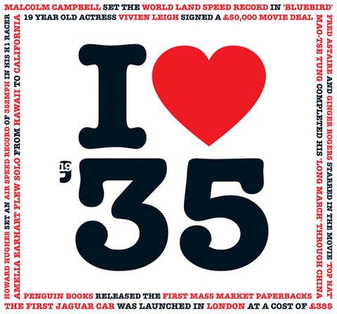 I Love 1935 Birthday Card and CD Gift - HerbysGifts.com