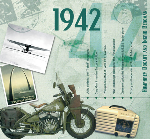 1942 Classic Years CD Card-Herbysgifts.com