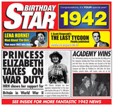 1942 Birthday Star CD Greeting Card & Gift-Herbysgifts.com