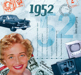 1952 Classic Years Music CD Greeting Card-HerbysGifts.com