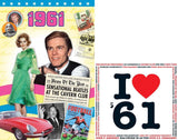 1961 DVD and I Love 1961 CD Card Set - HerbysGifts.com