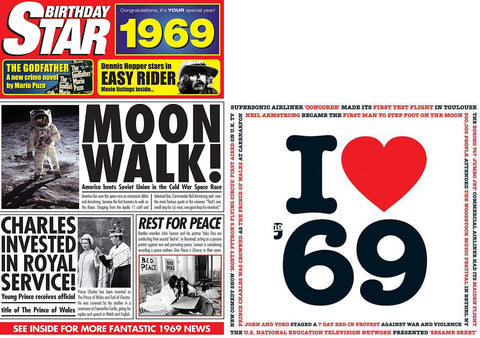 1969 Birthday Gifts - 1969 Birthday STar DVD and I Love 1969 CD Card Set - HerbysGifts.com