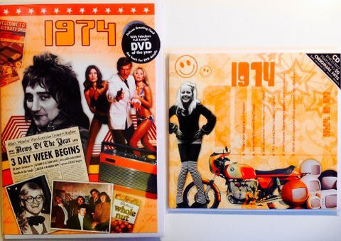 1974 Birthday Gift Set - 1974 DVD and CD Card - HerbysGifts.com