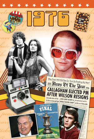 1976 Birthday or Anniversary News Documentary DVD Gift and Card in One-HerbysGifts.com