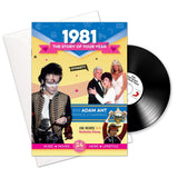 1981 Birthday | Anniversary CD Card and Story of Your Year Booklet-HerbysGifts.com
