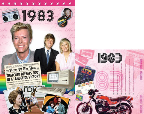 1983 BIRTHDAY or ANNIVERSAR GIFT SET - 1983 DVD , CD and Greeting Card - HerbysGifts.com