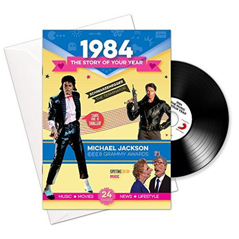 1984 birthday or anniversary gift and card with compilation music cd-HerbysGifts.com