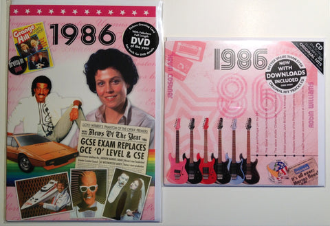 1986 DVD and CD Card Set