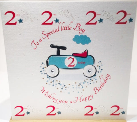 Happy 2nd Birthday Card For A Boy - HerbysGifts.com