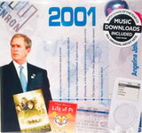 2001 Birthday or Anniversary Gift - 2001 CD Card - HerbysGifts.com