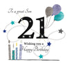 21st Birthday Card Son - HerbysGifts.com