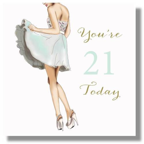 LARGE Happy 21st Birthday Card For Girls