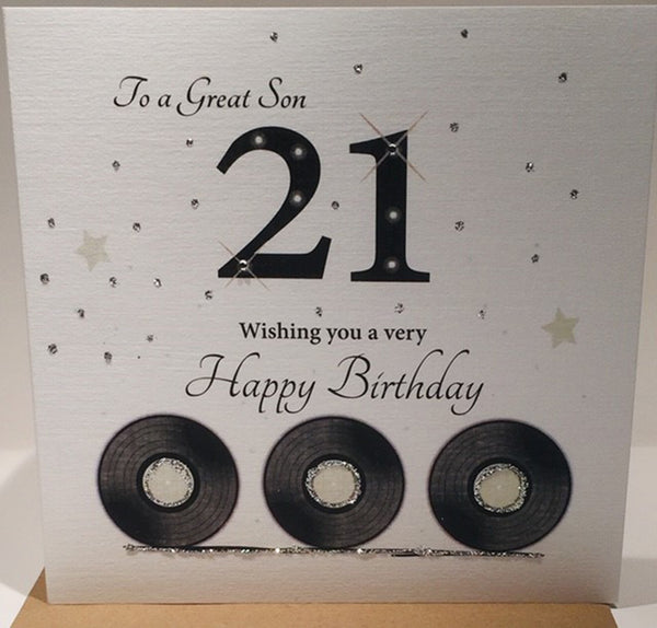Happy 21st Birthday Card Son